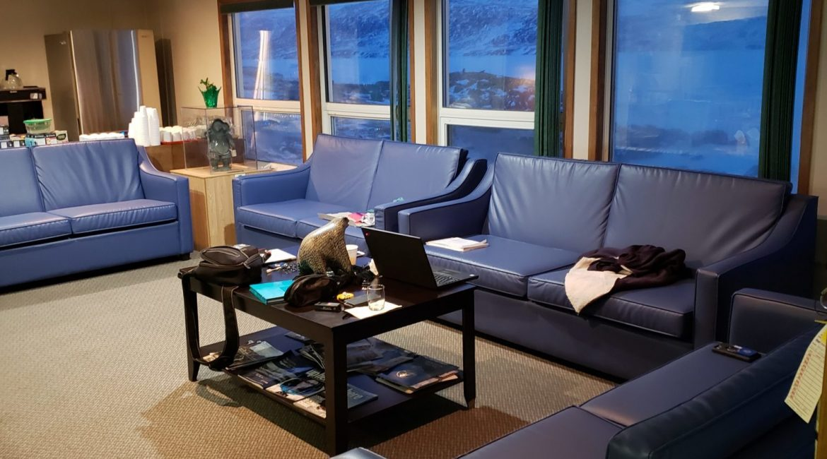 Hotel Lobby in Pangnirtung
